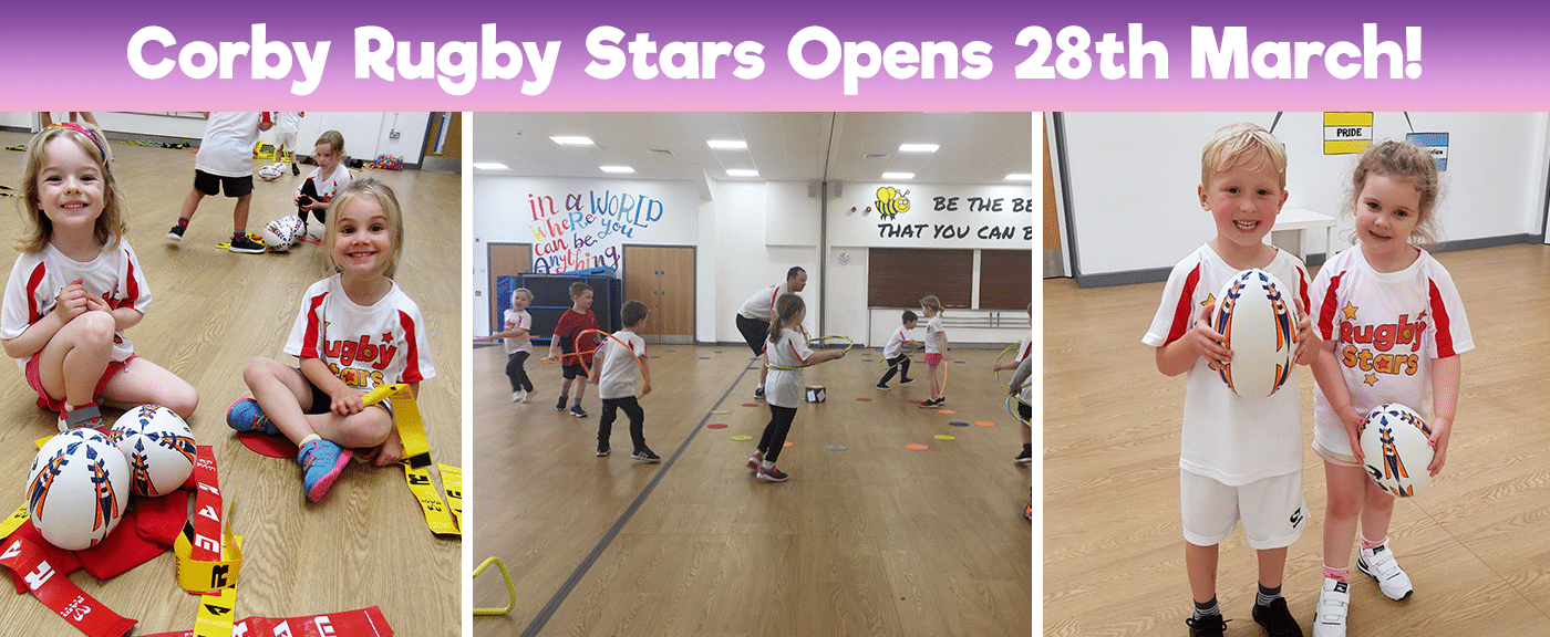 Kids Childrens Rugby Classes Club in Corby Northamptonshire